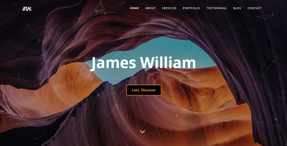 INK - Personal Portfolio Template - Personal Site Templates
