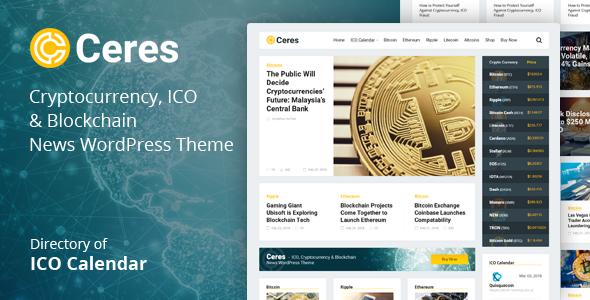 Ceres - Cryptocurrency & Blockchain News WordPress Theme - News / Editorial Blog / Magazine