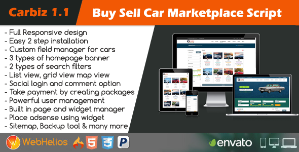 carbiz buy sell car marketplace script by webhelios codecanyon. Black Bedroom Furniture Sets. Home Design Ideas