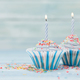 Sweet cupcakes with candles - PhotoDune Item for Sale