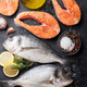 Raw salmon and dorado fish fillet - PhotoDune Item for Sale