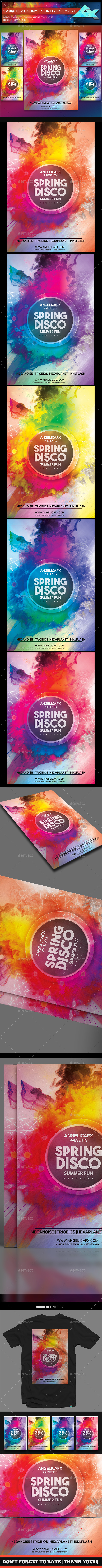 Spring Disco Summer Fest Flyer Template