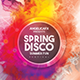 Spring Disco Summer Fest Flyer Template - GraphicRiver Item for Sale