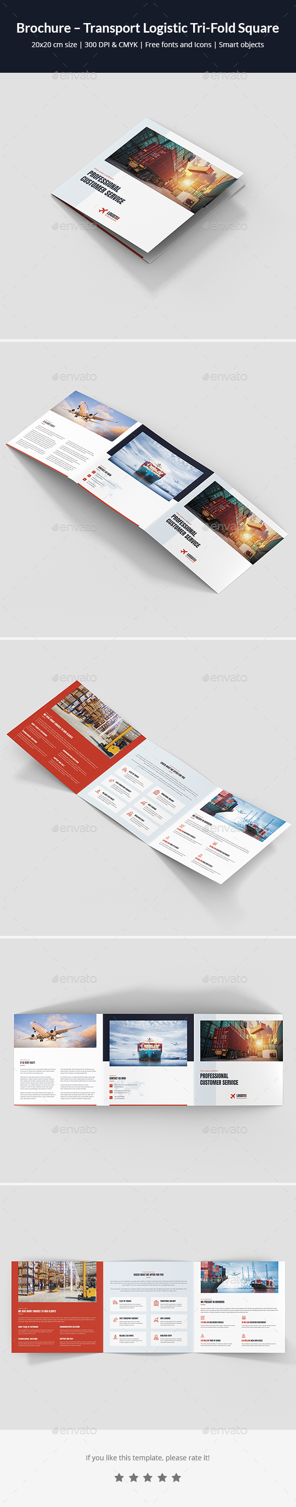 Brochure – Transport Logistic Tri-Fold Square - Corporate Brochures