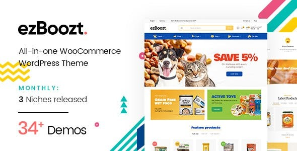 Image of ezBoozt – All-in-one WooCommerce WordPress Theme