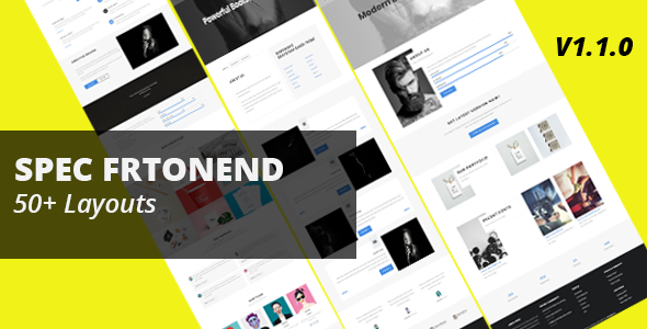 Spec Frontend Multipurpose Bootstrap Template - Business Corporate