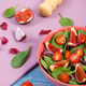Fresh prepared fruit and vegetable salad and ingredients for preparing meal - PhotoDune Item for Sale