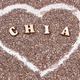 Heart shaped chia seeds as source natural vitamins, dietary fiber and minerals - PhotoDune Item for Sale