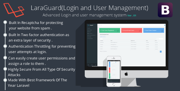 LaraGuard(Advanced Login and User management system) - CodeCanyon Item for Sale