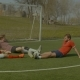 Footballers Relaxing on Soccer Field After Game - VideoHive Item for Sale