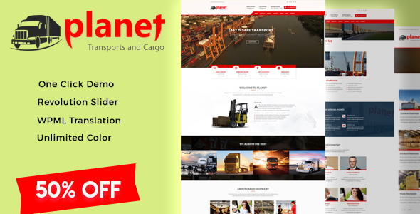 Cargo -  Transport Cargo Logistic WordPress