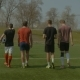Sports Team Going to Football Training in the Pitch - VideoHive Item for Sale