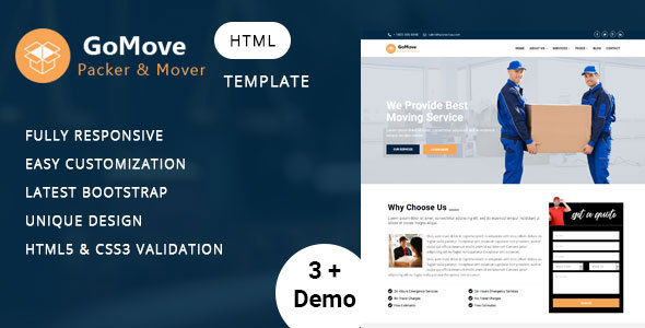 Image of Mover - Company HTML Template