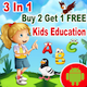 3 In 1 + Best Kids Education Games + Android Studio + Admob - CodeCanyon Item for Sale