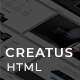 Creatus app Landing Page - ThemeForest Item for Sale