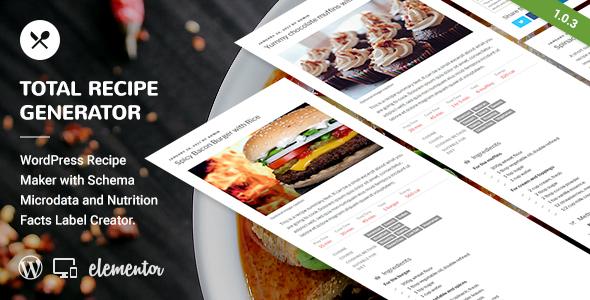 Total recipe generator wordpress recipe maker with schema and total recipe generator wordpress recipe maker with schema and nutrition facts elementor addon forumfinder Gallery