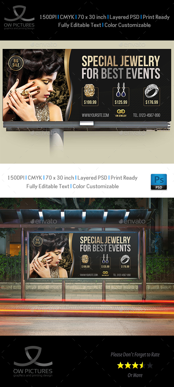 Jewelry Billboard Templates Vol.2 by OWPictures | GraphicRiver