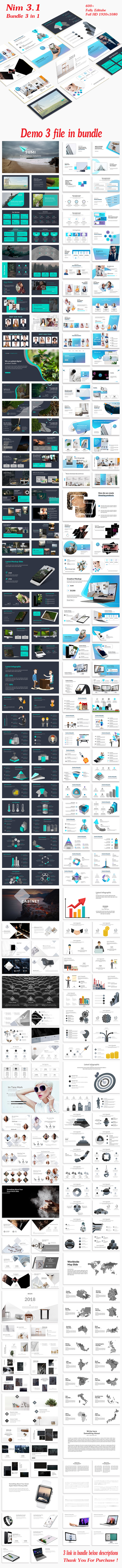 Nim 3.1 Bundle 3 in 1 PowerPoint Template - Creative PowerPoint Templates