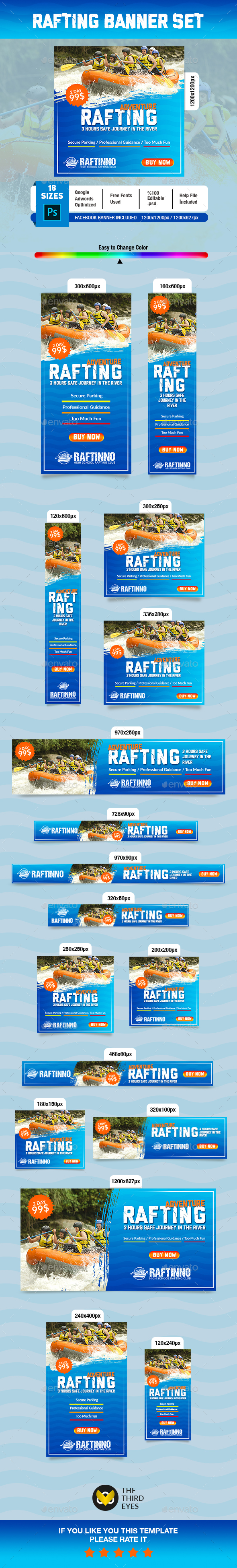 Rafting Banner - Banners & Ads Web Elements