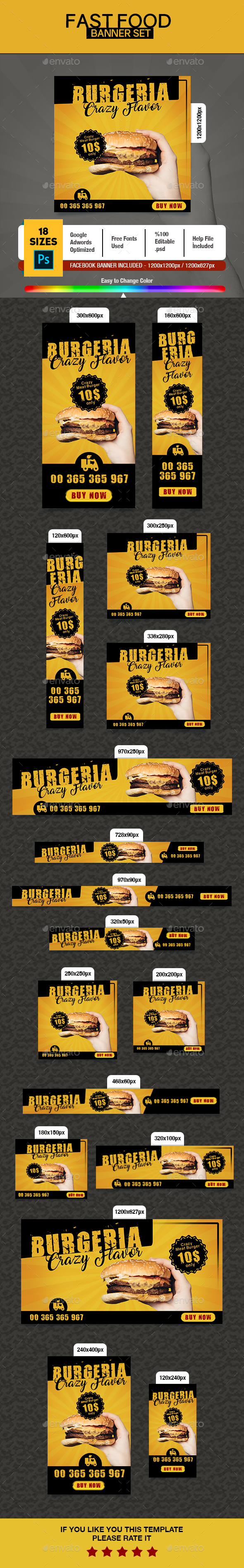 Fast Food Banner - Banners & Ads Web Elements