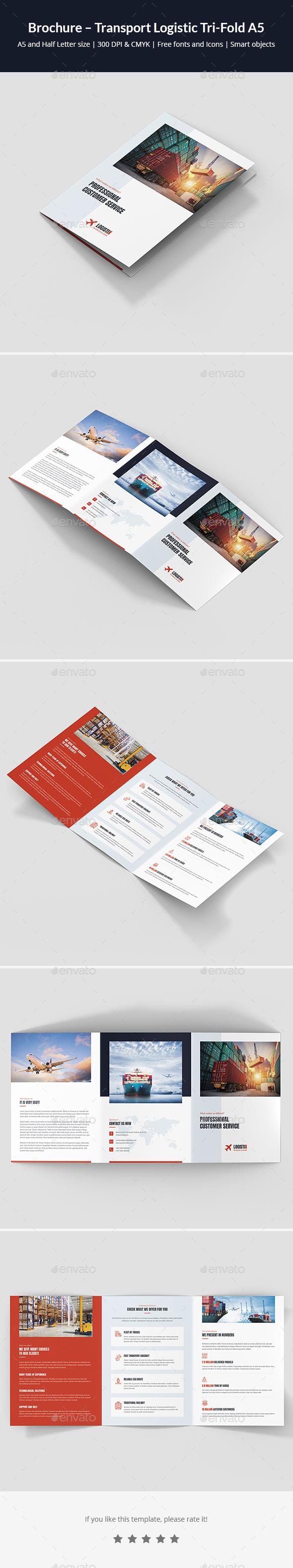 Brochure – Transport Logistic Tri-Fold A5 - Corporate Brochures