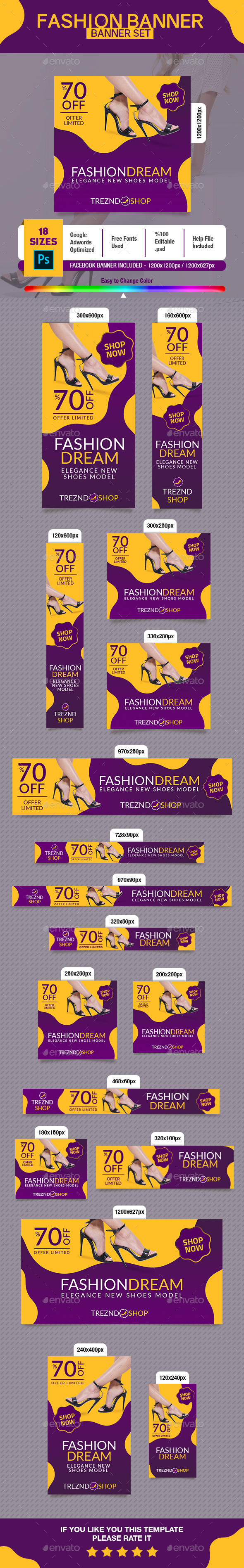 Fashion Shoes Banner - Banners & Ads Web Elements