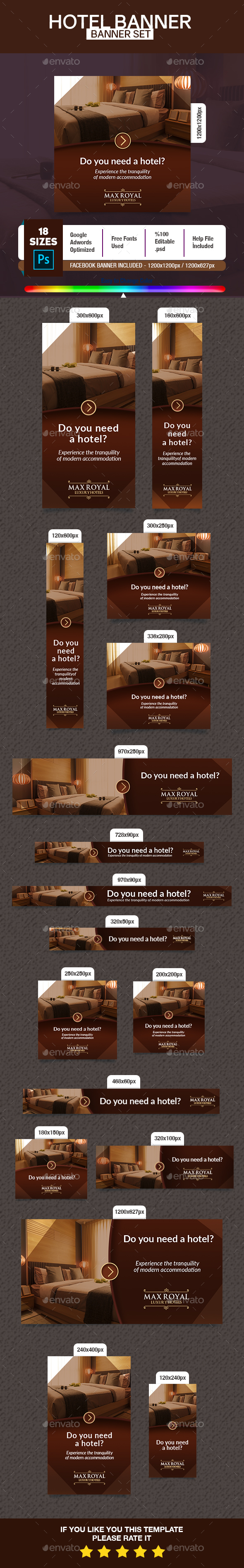 Luxury Hotel Banner - Banners & Ads Web Elements
