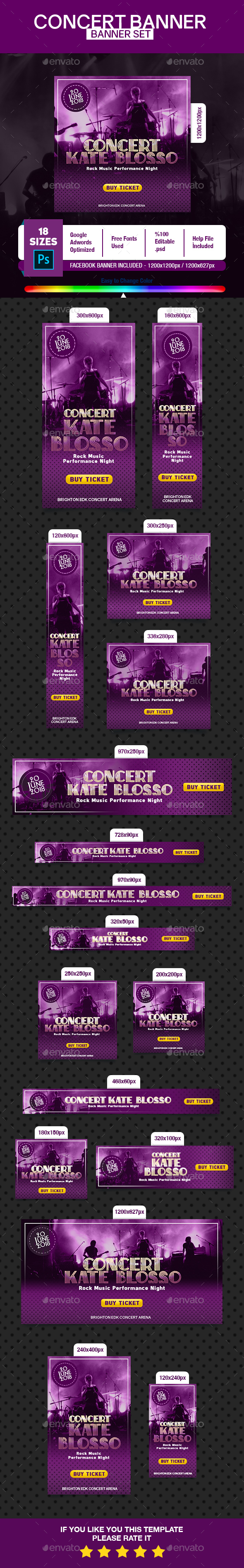 Concert Banner - Banners & Ads Web Elements