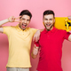 Portrait of a smiling gay male couple - PhotoDune Item for Sale