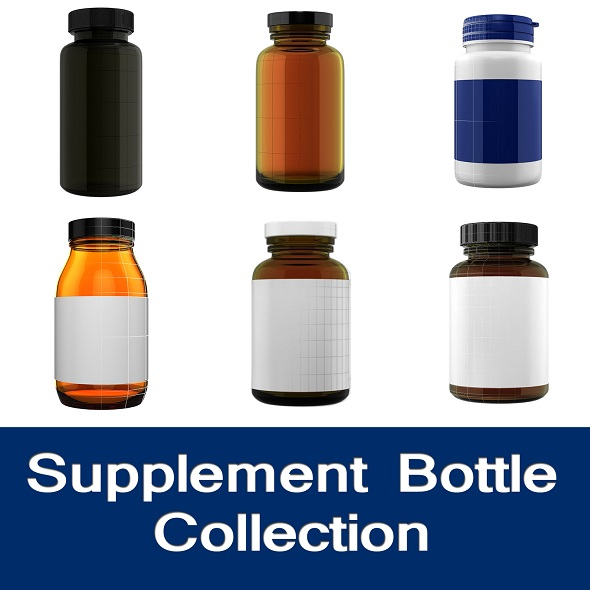 Supplement Bottle Collection 1 - 3DOcean Item for Sale