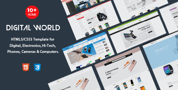 Digital World - HTML Template for Digital, Electronics & Hi-Tech Store - Shopping Retail