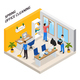 Office Cleaning Isometric Composition - GraphicRiver Item for Sale
