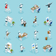 Creative Robots Isometric Icons - GraphicRiver Item for Sale
