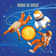 Work In Space Isometric Composition - GraphicRiver Item for Sale