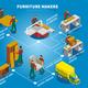 Furniture Makers Isometric Flowchart