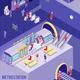 Underground Isometric Poster