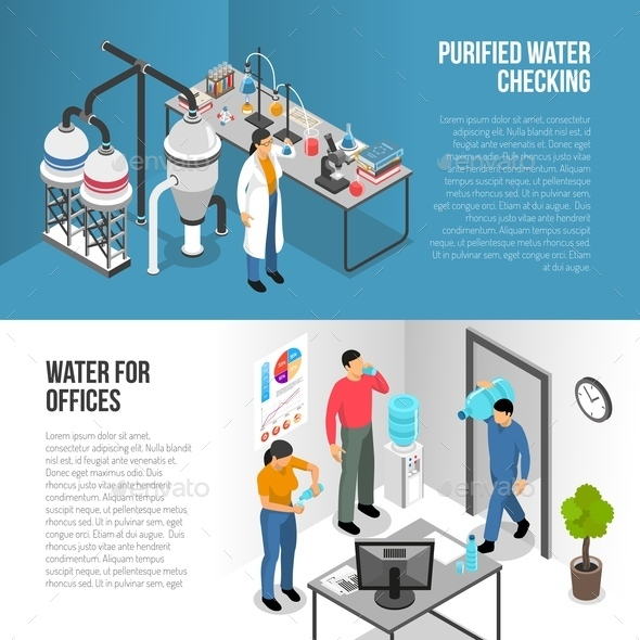 Water Purification Banners - Business Conceptual
