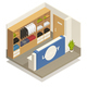 Laundry Isometric Composition - GraphicRiver Item for Sale