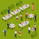 Catering Isometric Composition - GraphicRiver Item for Sale