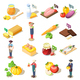 Organic Food Isometric Icons