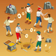 Pirates Game Isometric Composition - GraphicRiver Item for Sale