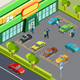 Supermarket With Car Parking - GraphicRiver Item for Sale
