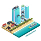 Urbanization Isometric Composition - GraphicRiver Item for Sale