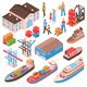 Sea Port Isometric Set