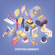 Crypto Currency Isometric Composition