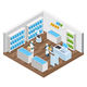Automated Shop Isometric Composition