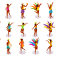 Brazilian Carnival Isometric People
