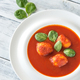 Portion of tomato soup with meatballs - PhotoDune Item for Sale