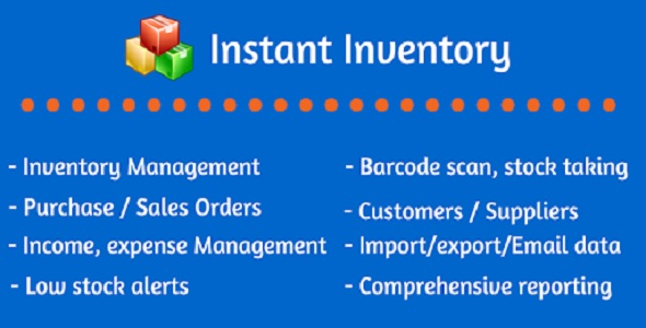 Instant Inventory - Accounting, Inventory & Invoicing Management System - CodeCanyon Item for Sale