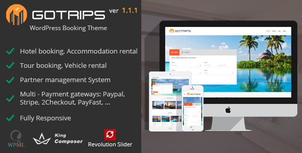 Gotrips | WordPress Booking Theme - Travel Retail